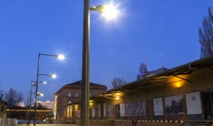 LEDLaufsteg bei Nacht
